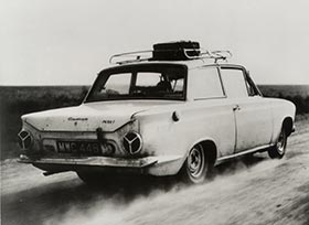 Eric Jackson's record breaking Ford Cortina